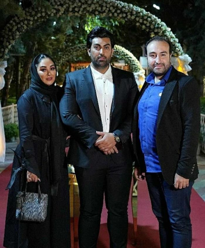 تصویر الهام حمیدی و همسرش علیرضا صادقی